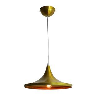 Ivy Bronx Astra Brass 1-Light Cone Pendant