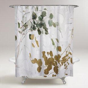 Rocheleau Leaves Shower Curtain