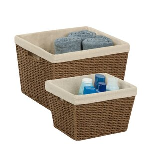Compare & Buy 2 Piece Woven Rope Basket Set By Honey Can Do