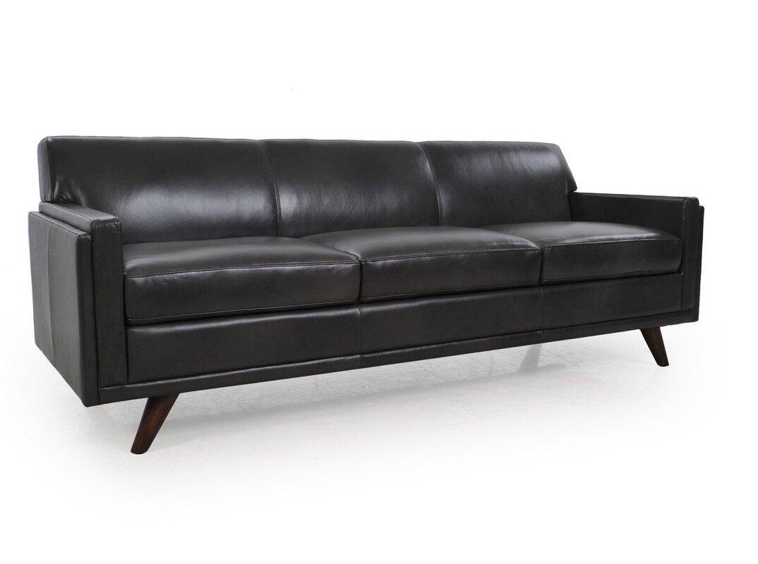 Captivating Ari Mid Century Leather Sofa