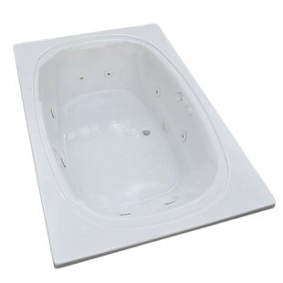 St. Lucia 77.88 inch  x 47.5 inch  Rectangular Whirlpool Jetted Bathtub