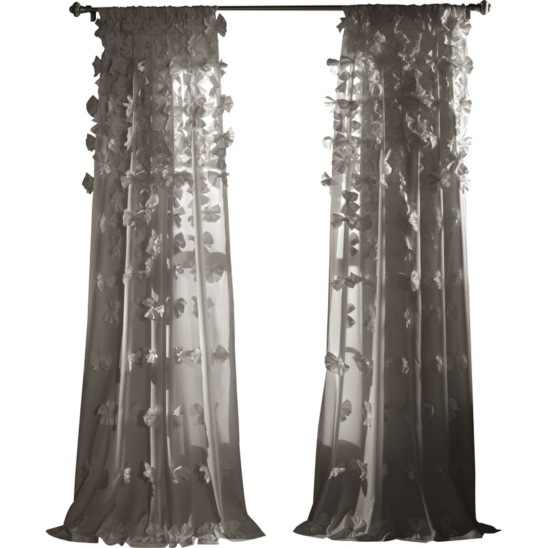 Ophelia Co Clarkstown Semi Sheer Rod Pocket Single Curtain Panel Reviews Wayfair