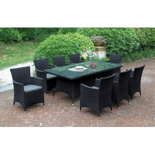 Johnnie 9 Piece Dining Set with Cushions by Darby Home Co