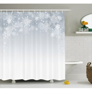 Comparison Winter Ations Christmas Back With Snowflake Figures and Fairy Stars Lights Magic Design Shower Curtain By The Holiday Aisle