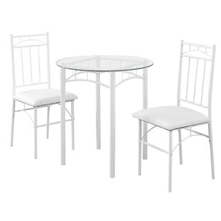 3 Piece Dining Set Monarch Specialties Inc.
