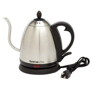 Bonavita 1.05 Qt. Gooseneck Stainless Steel Electric Tea Kettle