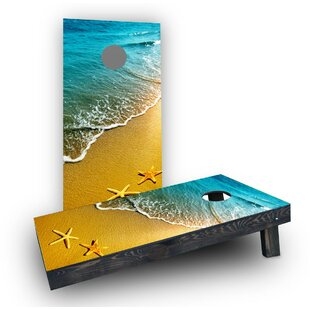 Custom Cornhole Boards Beach Starfish Theme Cornhole Boards (Set of 2)