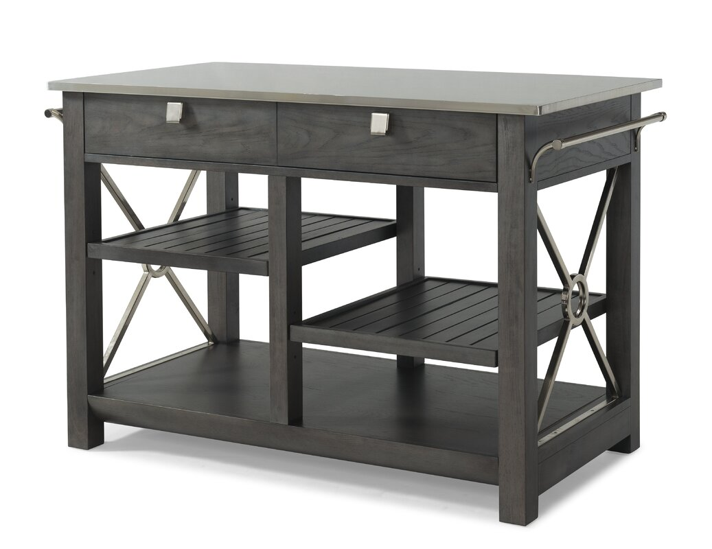 Music City 'Here Comes Temptation' Kitchen Island with Stainless ...