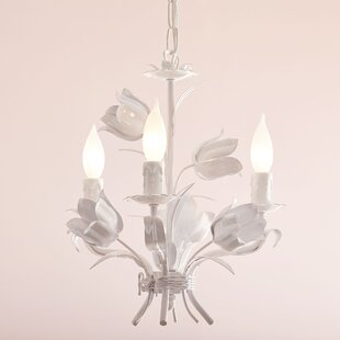 Birch Lane Kids™ Blooming Bouquet 3-Light Candle Style Chandelier