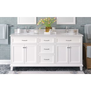 Tristian 72 Double Bathroom Vanity Set by Charlton Home