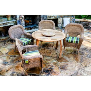 Darby Home Co Fleischmann 5 Piece Dining Set with Cushions