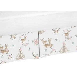 Price comparison Deer Floral Crib Skirt By Sweet Jojo Designs