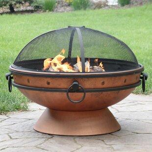Charlton Home Neoma Royal Cauldron Steel Wood Burning Fire Pit