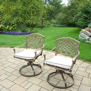 Mississippi Patio Chair with Cushion (Set of 2)