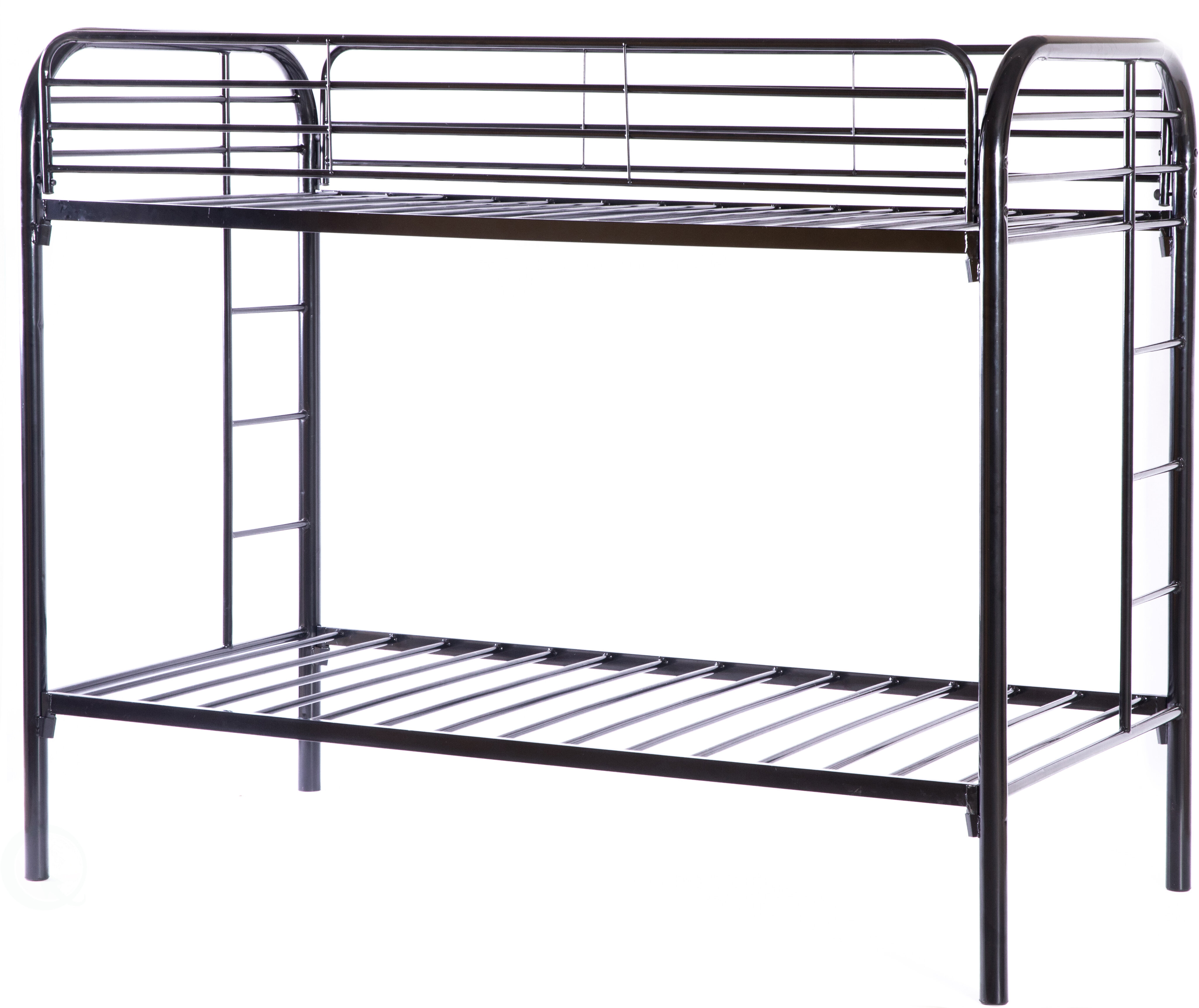 Picture of: Isabelle Max Westlund Metal Twin Over Twin Over Twin Bunk Bed Wayfair