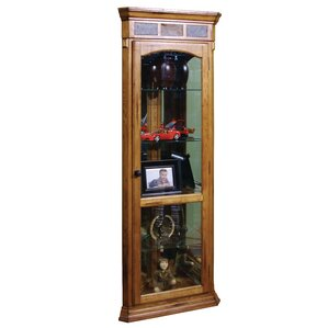 Fresno Lighted Corner Curio Cabinet by Lo..