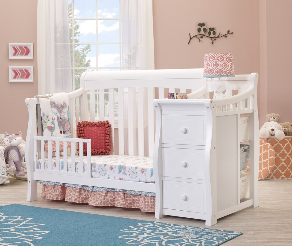 Tuscany Elite 4 In 1 Convertible Crib And Changer