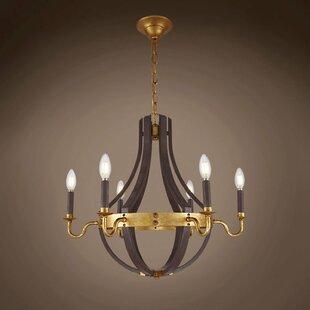 Gracie Oaks Calantha 6-Light Candle Style..