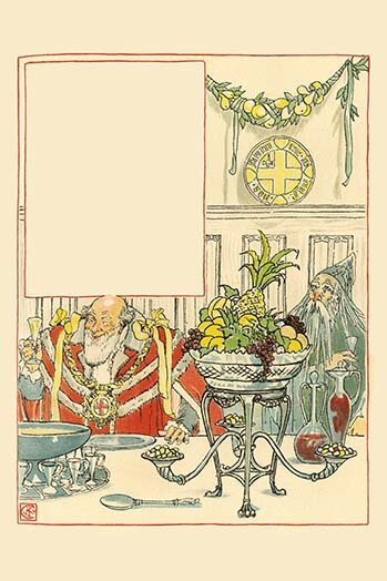 Buyenlarge Overeating And Overdrinking Christmas Turned Away Dried Fish By Walter Crane Painting Print Wayfair