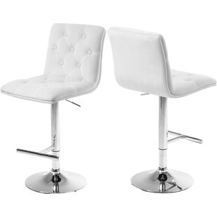 Leia Adjustable Height Bar Stool (Set Of 2) by Latitude Run Great Reviews