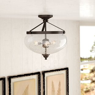 Harborcreek 3-Light Semi Flush Mount by Laurel Foundry Modern Farmhouse