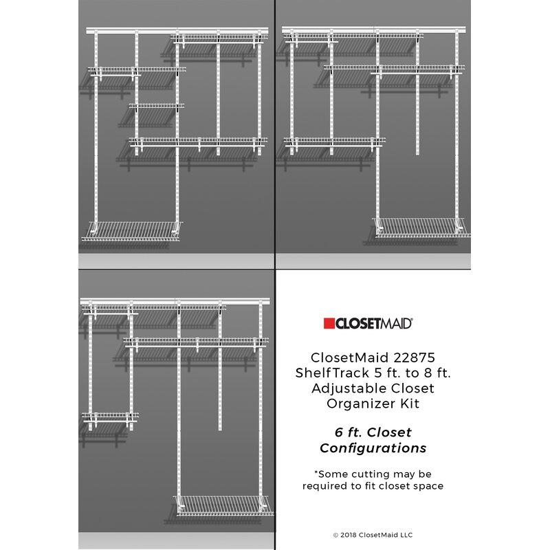 Closetmaid Shelftrack 60 W 96 W Closet System Reviews Wayfair