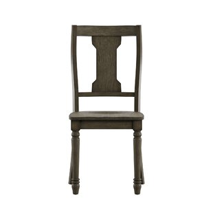 Butte Splat Back Solid Wood Dining Chair (Set of 2)