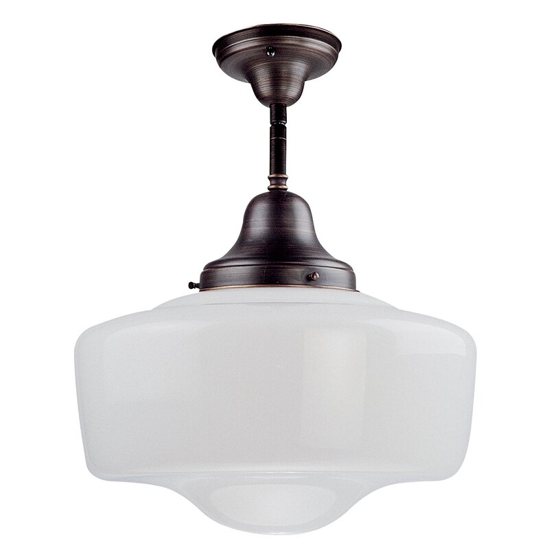 Simple Schoolhouse Semi Flush Mount