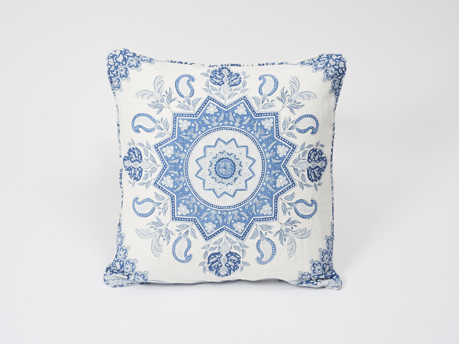 Schumacher Montecito Medallion Linen Throw Pillow Wayfair