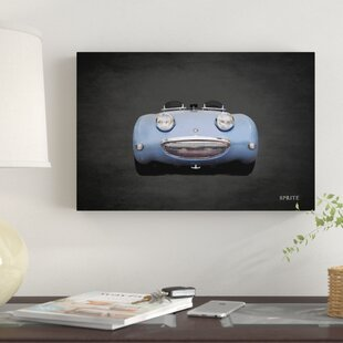 'Austin-Healey Sprite Mk1' Graphic Art Print on Canvas By East Urban Home