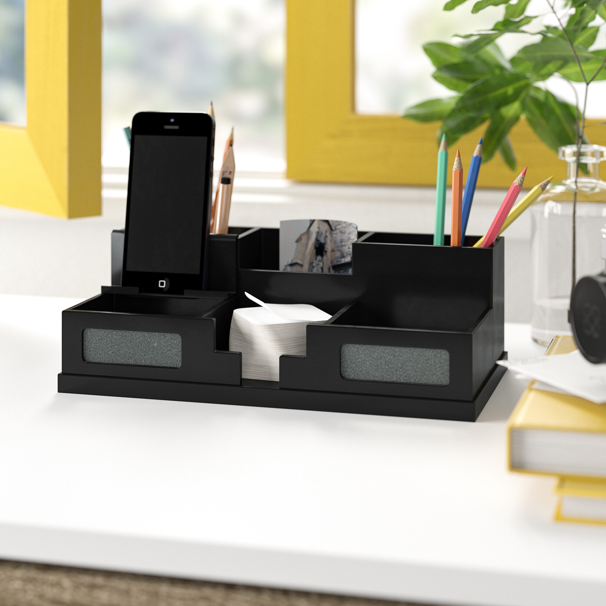 2cad016b8c04 Camile Desk Organizer with Smart Phone Holder
