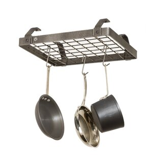USA Handcrafted Low Ceiling Small Rectangle Pot Rack