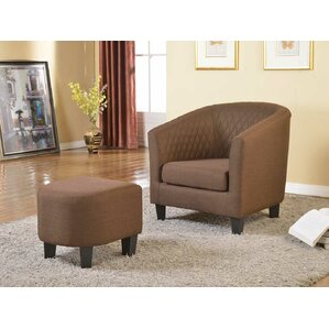 salter barrel chair and ottoman
