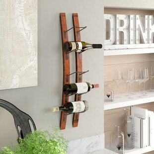 Galvez 5 Bottle Wall Mounted Wine Rack