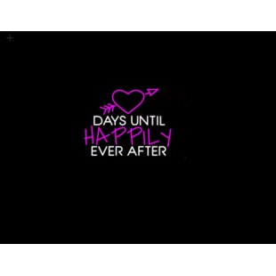 Days Until Happily Ever After Neon Wall Light By Latitude Run