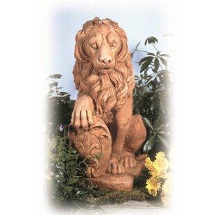 Ladybug Garden Decor Lion Statue