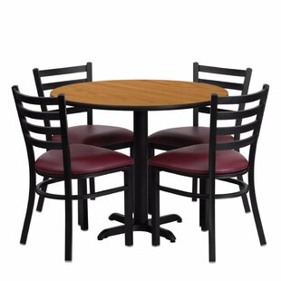 Camden Round Laminate Metal 5 Piece Dining Set Red Barrel Studio