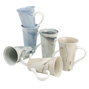Cedric Assorted Marble Coffee Mug (Set of 6)