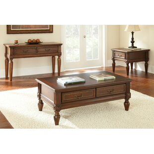Beachcrest Home Lilia 3 Piece Coffee Table Set