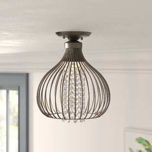 Esme Crystal Bead 1-Light Semi Flush Mount by Mistana