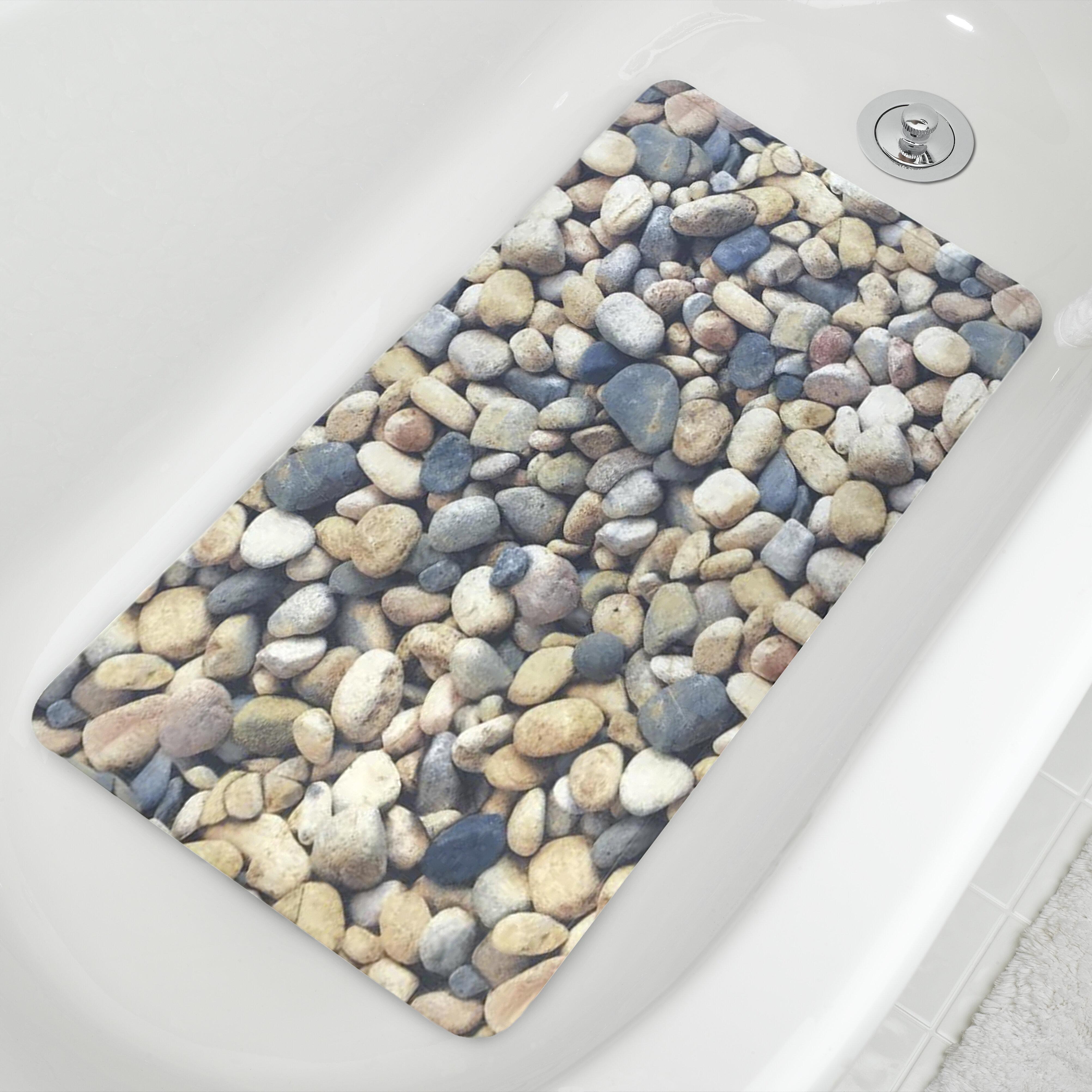 Millwood Pines Jackeline Pebble Fabric Printed Pvc Soft Bathtub