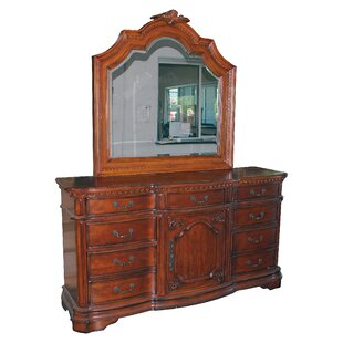Gardin 6 Drawer Dresser with Mirror