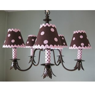 Dottie 5-Light Shaded Chandelier by Silly Bear Lighting