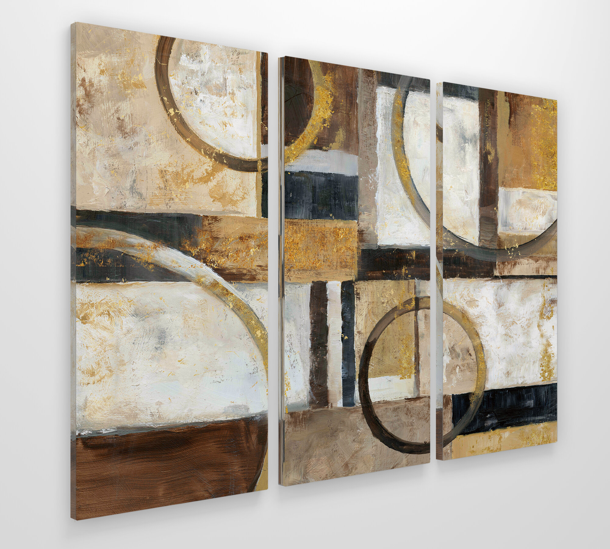 George Oliver Interplay Acrylic Painting Print Multi Piece Image On Gallery Wrapped Canvas Reviews Wayfair