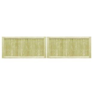 Wilburg Garden 10' X 2' (3m X 0.75m) Wood Gate (Set Of 2) By Sol 72 Outdoor