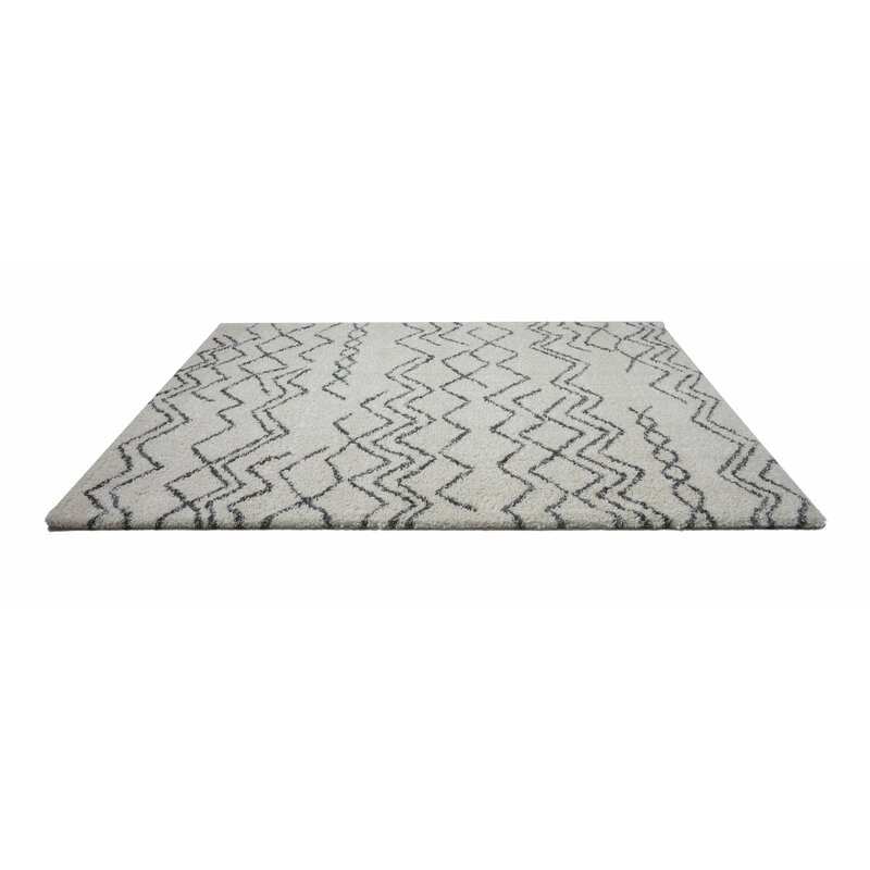 Foundry Select Jacoby Chevron Ivory Gray Area Rug Wayfair
