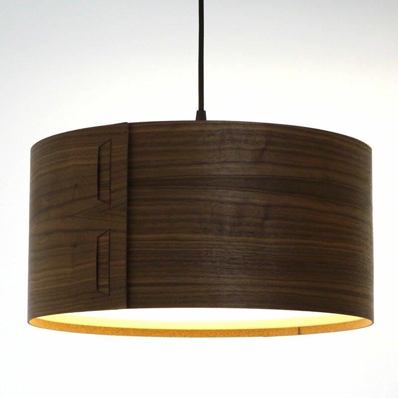 Cesar 40cm real wood veneer lamp shade