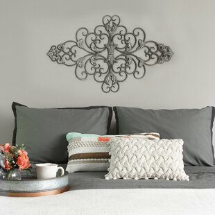 Distressed Scroll Wall Décor