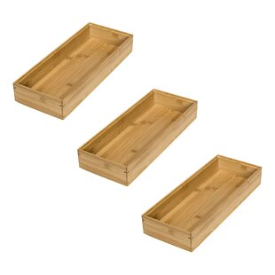 Low priced Bamboo 6 H x 7.5 W x 15 D Drawer Orgnizer (Set of 3) By Honey Can Do