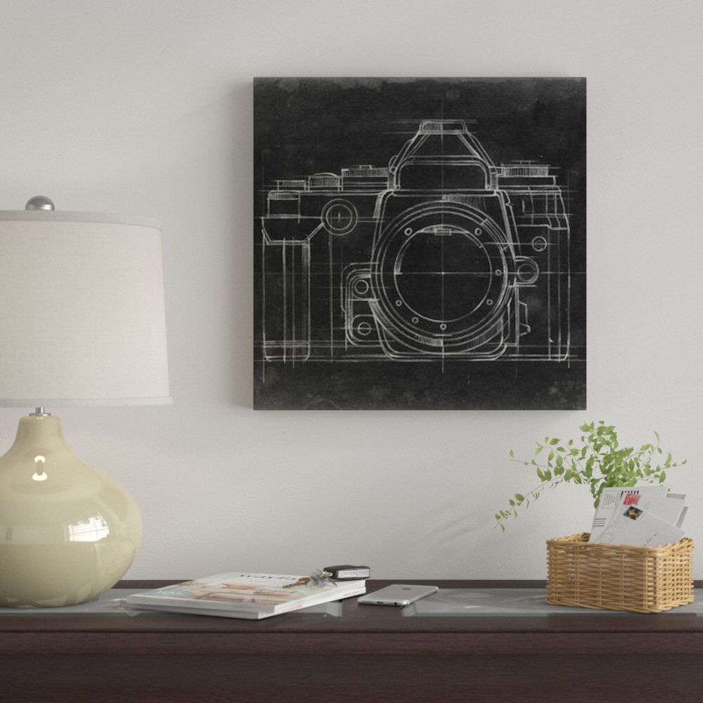 BONUS WALL DECAL! Retro Photo Camera Patent Print Gallery Wrapped Canvas Print